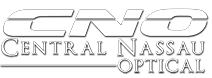 Central Nassau Optical white logo