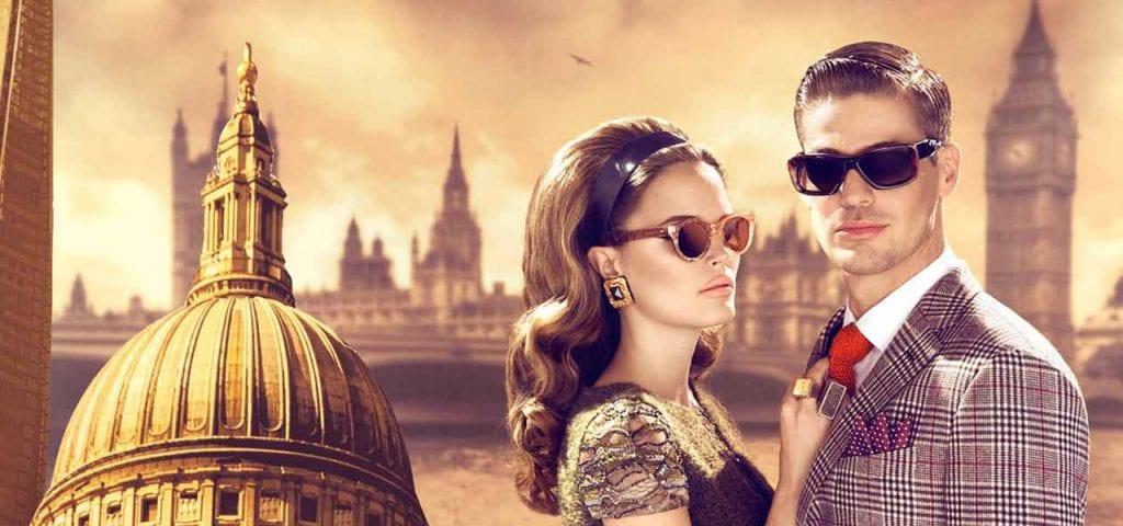 Designer glasses couple