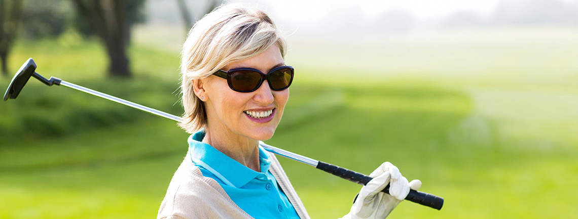 Older woman golf