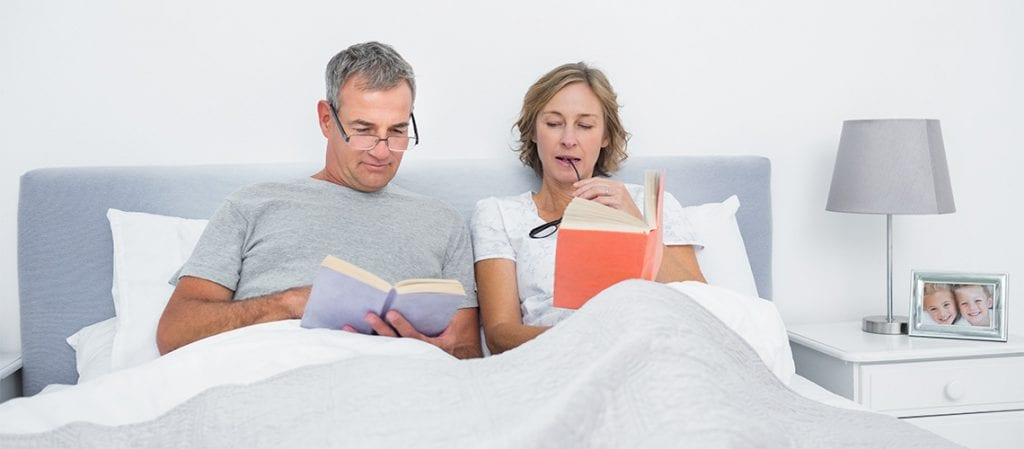 older couple reading