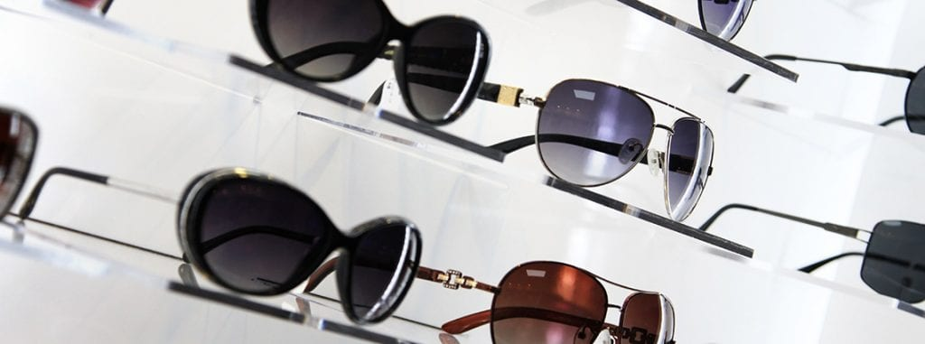 Sunglasses in a row