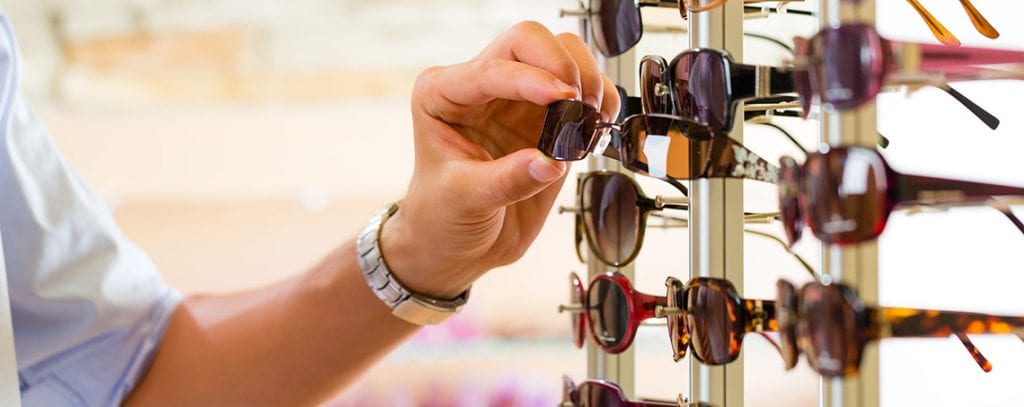 Picking out sunglasses