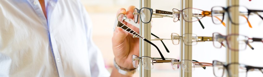 Variety of eye glasses in Central Nassau Optical